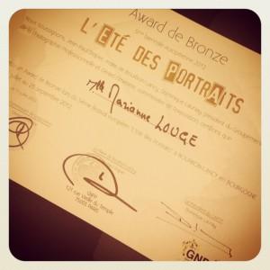 IMG 0197 300x300 Award de Bronze   Eté des Portraits à Bourbon Lancy