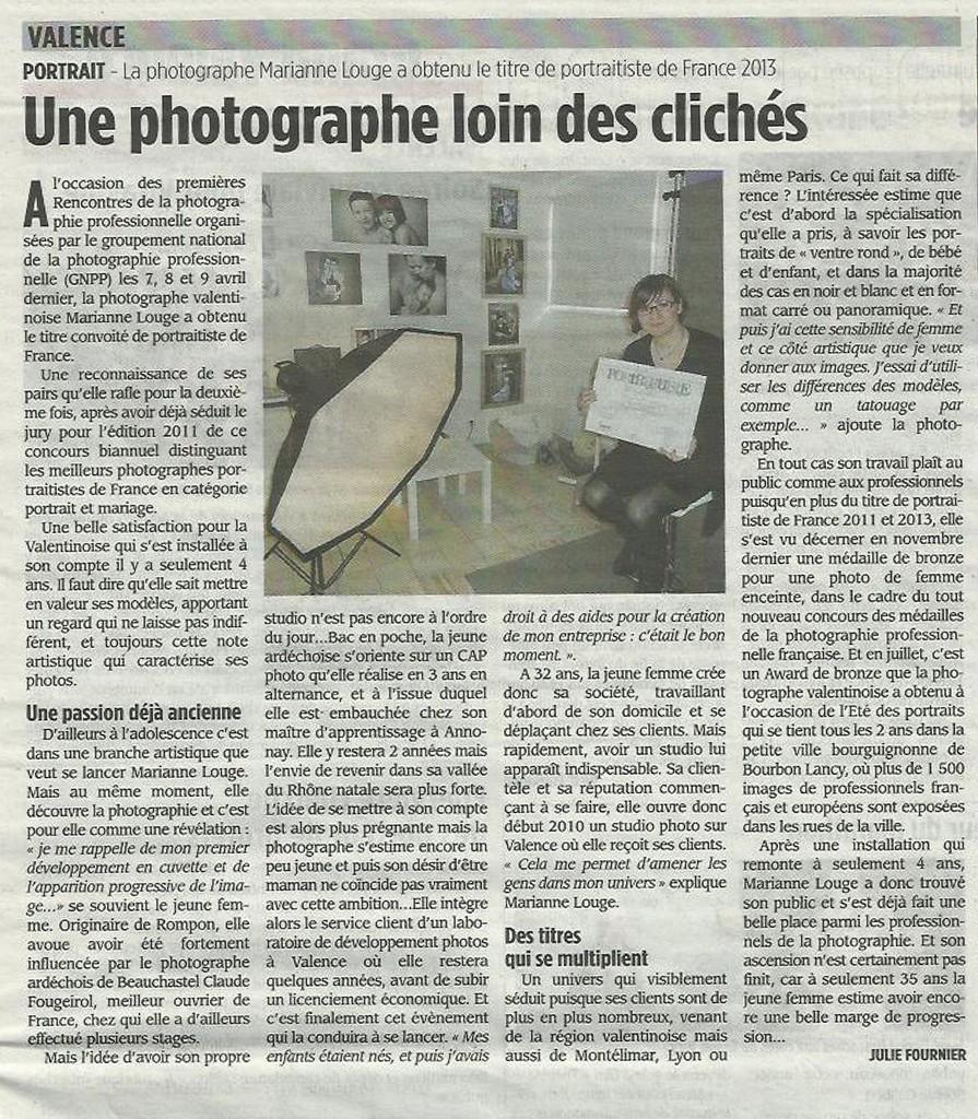 article photographe drome