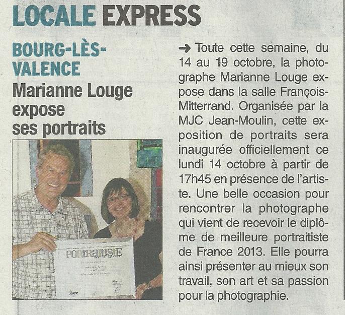 dl131014 Parution Dauphiné Libéré: Exposition Ventres Ronds et Petits Pieds