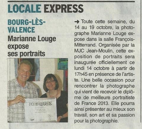 Dauphiné Libéré - 10 Octobre 2013