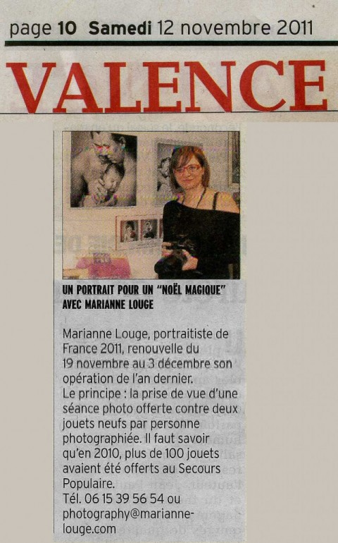 Dauphiné Libéré - 12 Novembre 2011