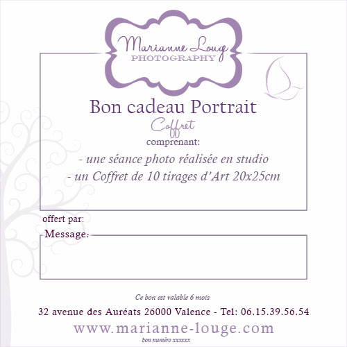 Bon Cadeau Portrait - Collection Coffret